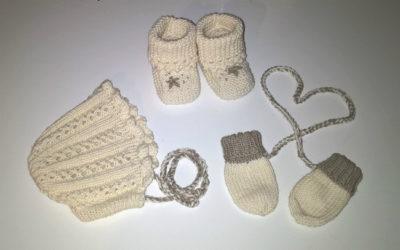 Alidan myssy, Lullaby Booties -tossut sekä vauvan lapaset