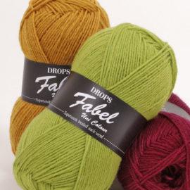 Drops Fabel – ohut sukkalanka, saatavana paljon värejä