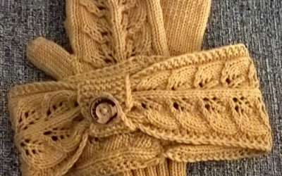 Goldenrod panta ja lapaset merinovillasta