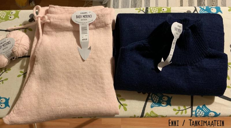 Novita Hyvä olo -paita ja housut Drops Baby Merinosta